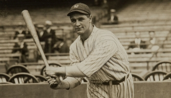 Lou Gehrig when he was introduced as new player of the New York Yankees. (Credit: Public Domain)