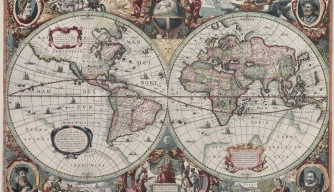 A map of the world created by Hendrik Hondius in 1630. (Credit: Public Domain)
