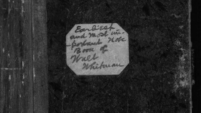 Walt Whitman's notebooks. (Credit: Public Domain)