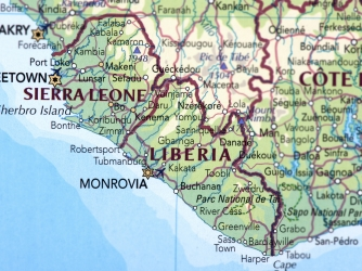 Map of Sierra Leone and Liberia. (Credit: omersukrugoksu/www.istockphoto.com)