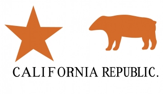 When American settlers in California organized the California Republic June 14, 1846, they adopted this flag. (Credit:  Encyclopaedia Britannica/UIG/Getty Images)