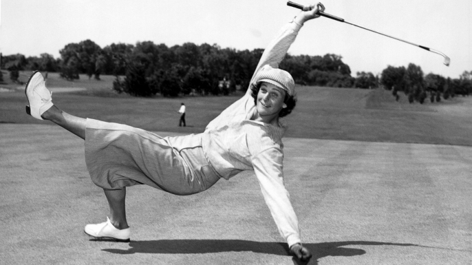 Babe Didrikson Zaharias at the All-American tournament at Chicago's Tam-O'Shanter Country Club, Chicago, Illinois, 1951. (Credit: Underwood Archives/Getty Images)