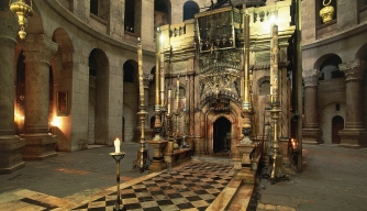 Aedicule of the Holy Sepulchre, Israel. (Credit: DeAgostini/Getty Images)