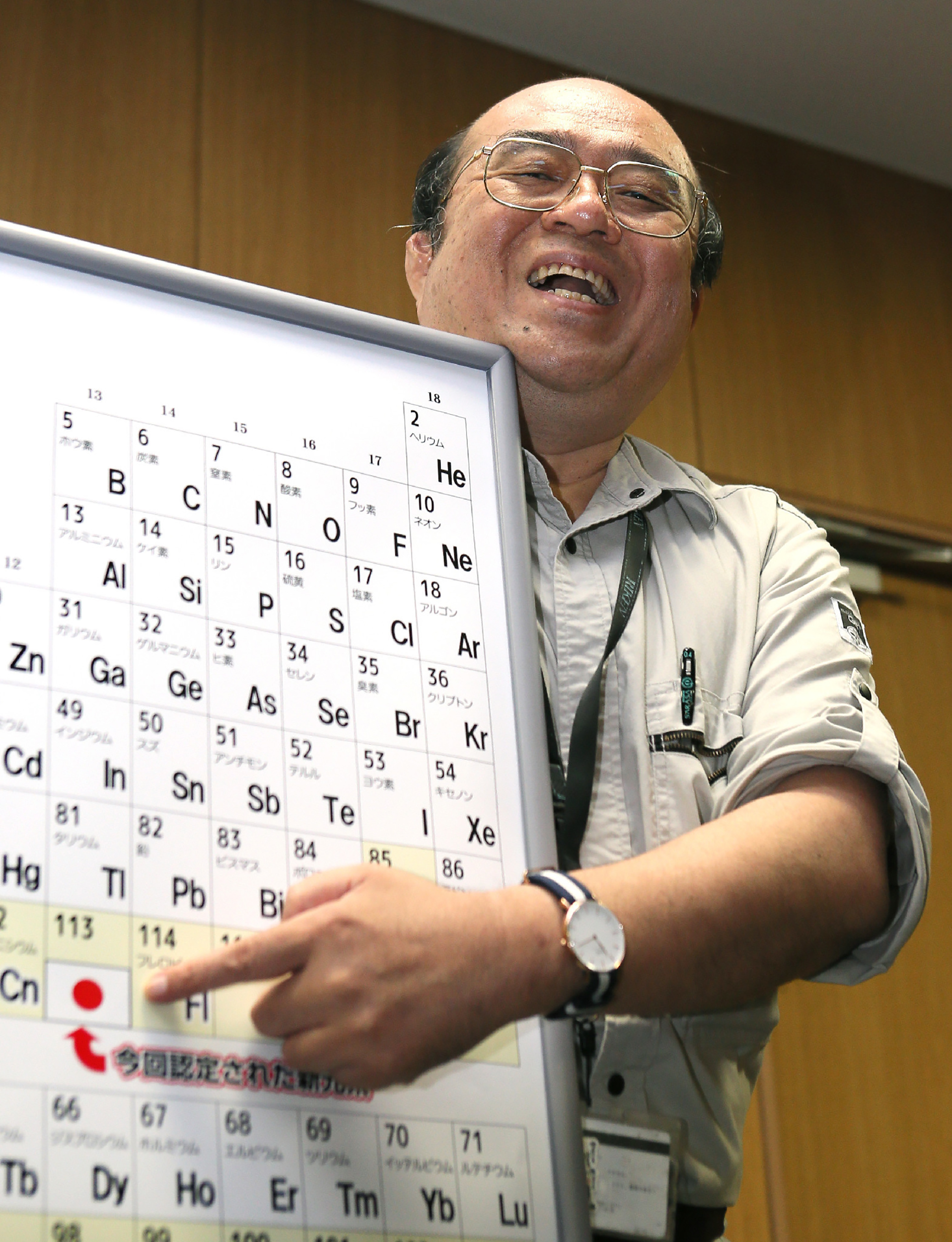 Four additions to periodic table get new names history in the kosuke morita who led the team at riken institute that discovered the superheavy synthetic element gamestrikefo Images