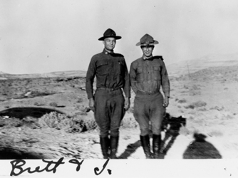 "On the left is Eisenhower, on the right is ""Brett."" (Credit: Eisenhower Collection)"