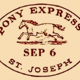 Postmark, Pony Express, 1860. (Credit: Public Domain)