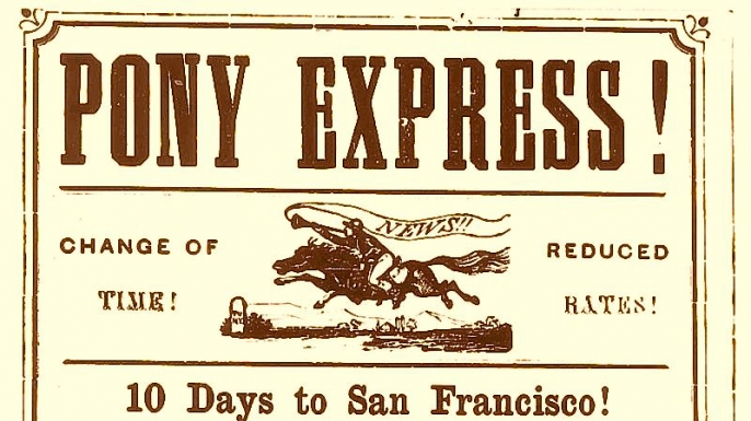 a history of the pony express Why pony express in the wild west of the past, the pony express was the most dependable way to communicate only the best riders were selected for the honor of delivering the mail - those who exhibited strength and reliability.