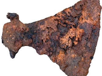 Large axe buried in one of the Viking men's graves (Credit: Museum Silkeborg)