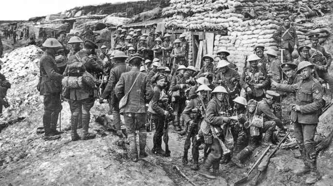 British troops before the Battle of the Somme.