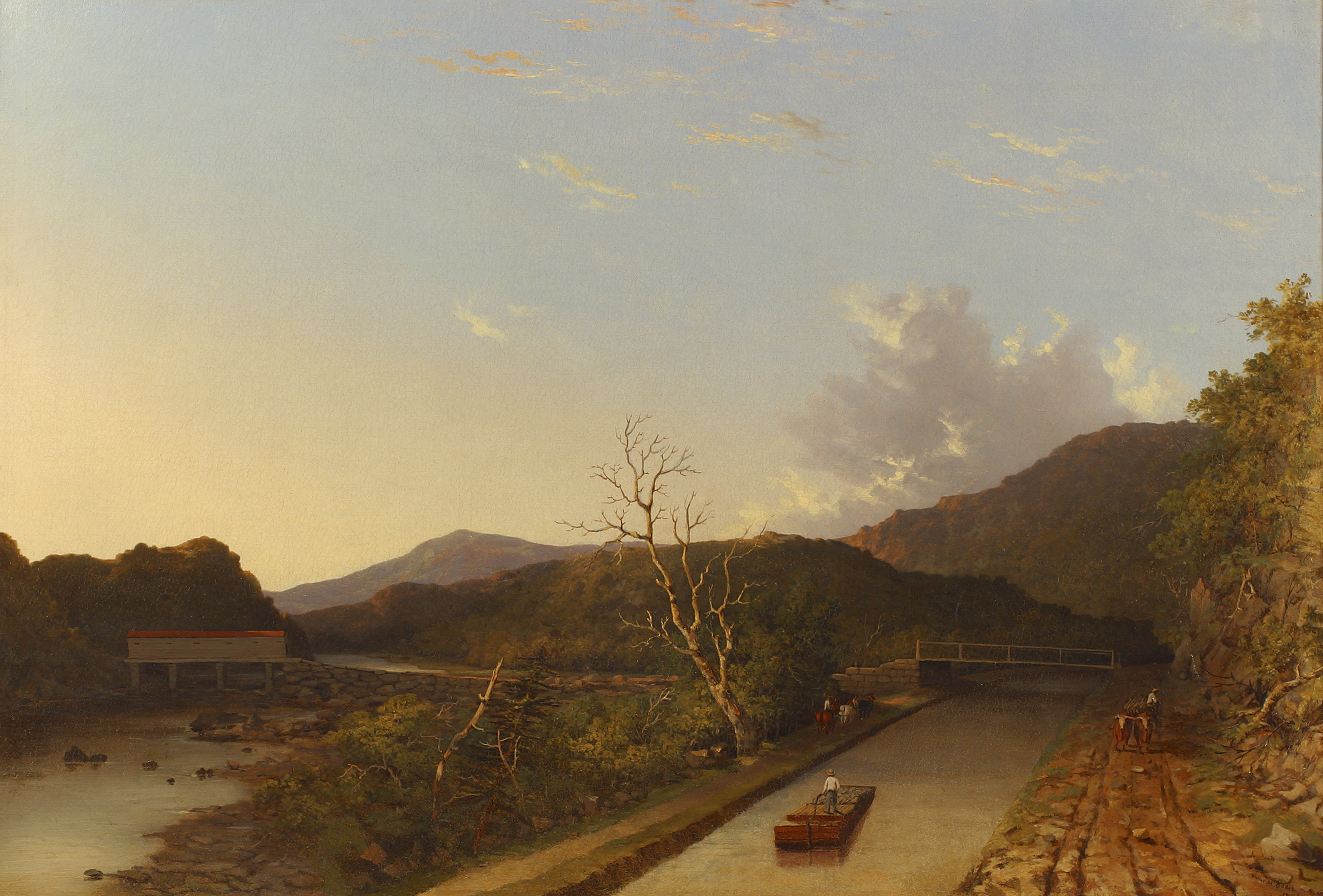 8 ways the erie canal changed america history lists 1847 painting of the erie canal credit the new york historical society sciox Images