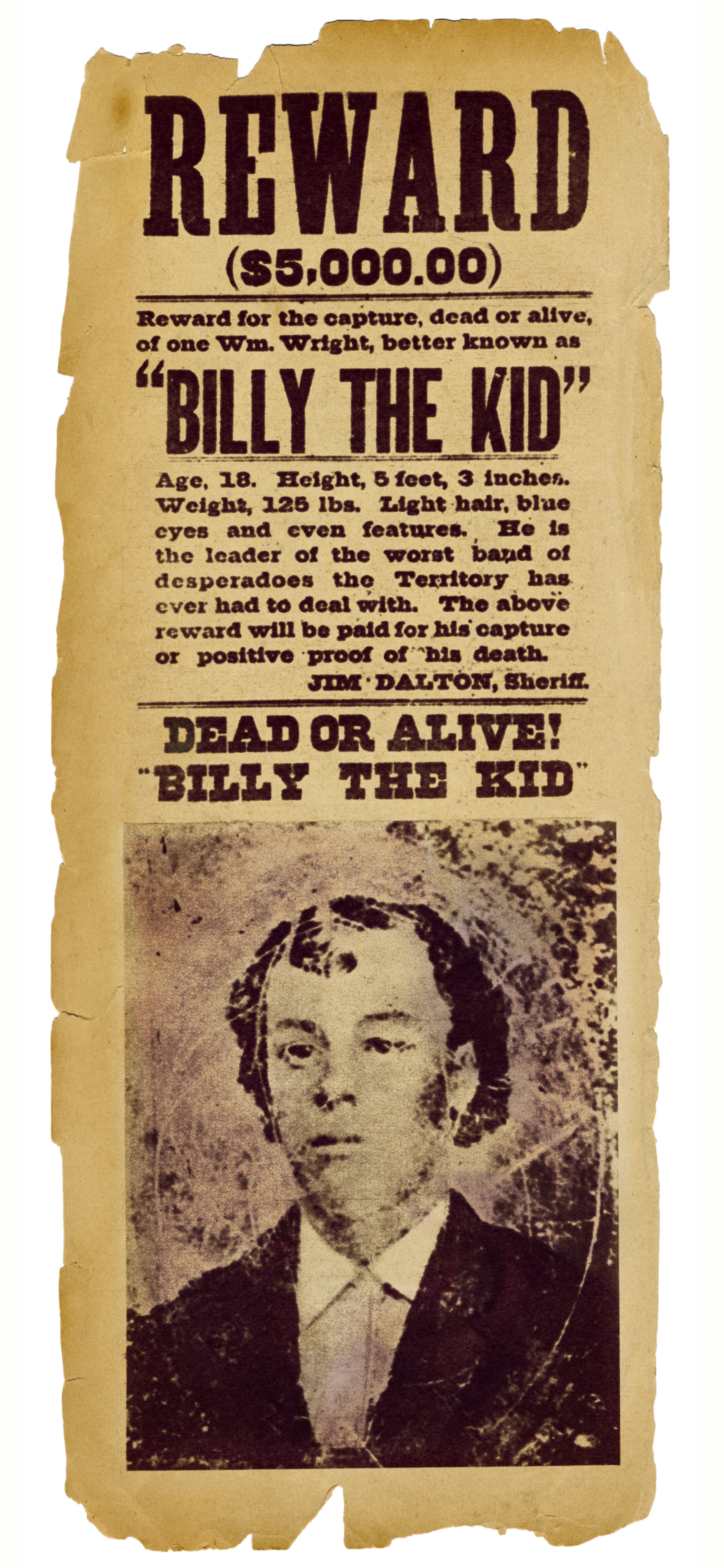 9 Things You May Not Know About Billy the Kid History Lists – Real Wanted Poster