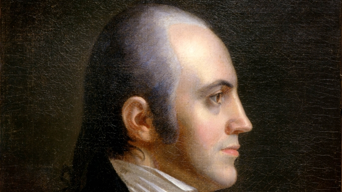 Portrait of Aaron Burr. (Credit: Public Domain)