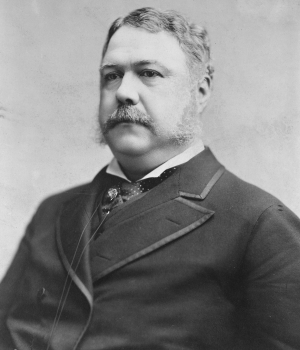Chester A. Arthur, who became president upon Garfield's death.