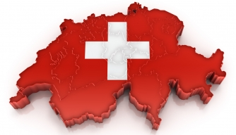 Switzerland, map, flag