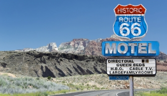 Old motel sign along historic route 66. (Credit: FrankvandenBergh/www.istockphoto.com)