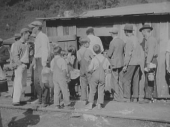 Striking miners drawing rations in West Virginia.