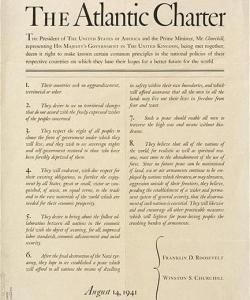 Atlantic Charter. (Credit: National Archives)