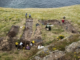 Tintagel Castle Archeology dig. (Credit: Emily Whitfield-Wicks for English Heritage)
