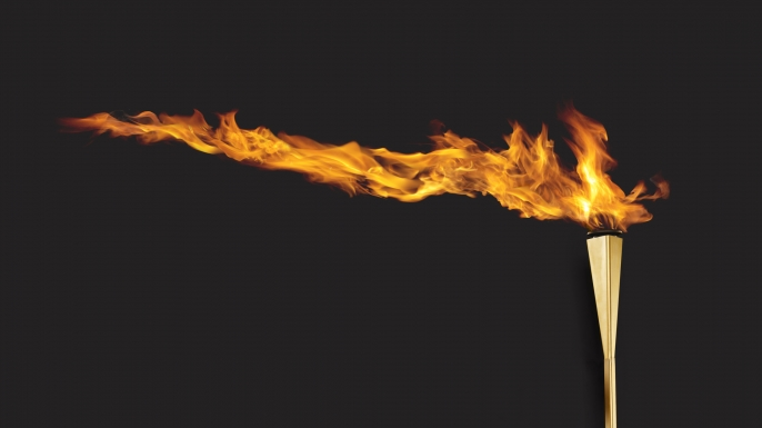 Olympic torch. (Credit: Bill Diodato / Getty Images)