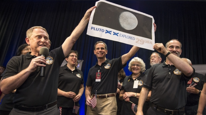 NASA scientists after New Horizons probe passed Pluto in July.