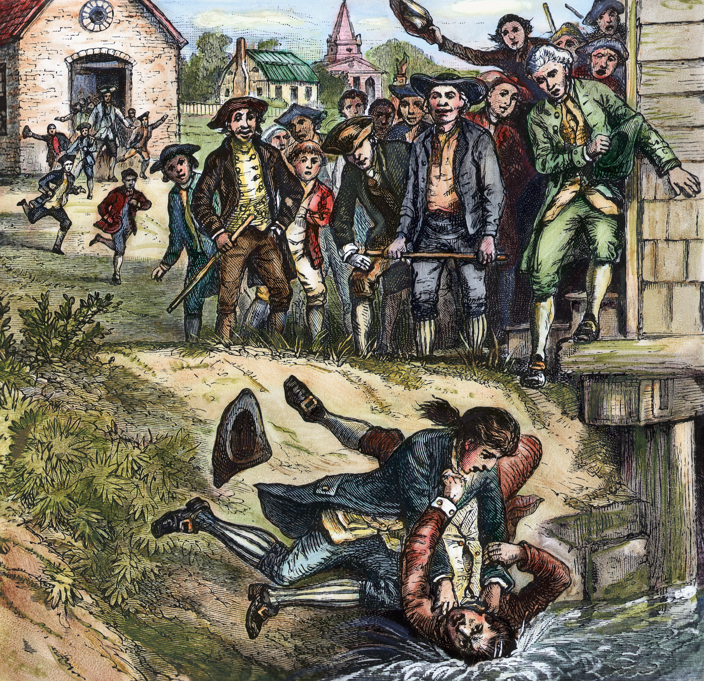 how shays rebellion changed america in the headlines engraving depicting a brawl between a massachusetts government supporter and a rebel during shays s rebellion