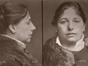 Mata Hari's mug shot on the day of her arrest. (Credit: adoc-photos/Corbis via Getty Images)