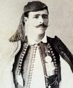 Spyridon Louis, Greek marathon champion at the Olympic Games in Athens Olympics, 1896. (Credit: Public Domain)