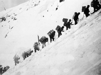 """Prospectors on the """"Golden Stairs."""""""