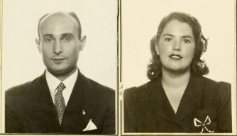 "Juan Pujol García ""Garbo"" (left) and Araceli Pujol García (right). (Credit: National Archives)"