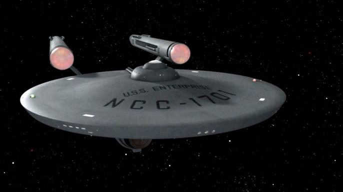 The U.S.S. Enterprise seen in a season 3 episode.