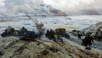 "Museum-Diorama ""The Breakthrough of the Siege of Leningrad."" (Credit: Carma Casula / Getty Images)"