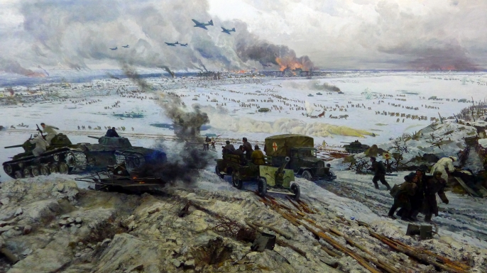 """Museum-Diorama """"The Breakthrough of the Siege of Leningrad."""" (Credit: Carma Casula / Getty Images)"""