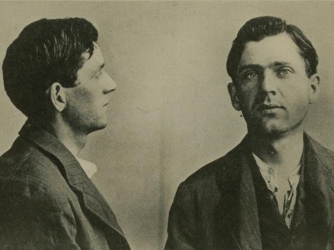 Mugshots of Leon Czolgosz after his arrest for the assassination of President William McKinley in 1901. (Credit: Public Domain)