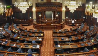 Senate Chambers State Capitol Building Springfield Illinois. (Credit: Dennis Macdonald / Getty Images)