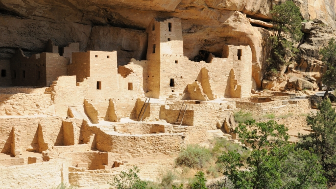 Cliff Palace at Mesa Verde.