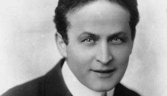Hungarian-born American magician and escape artist Harry Houdini