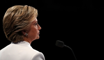 Democratic nominee Hillary Clinton during the final presidential debate.