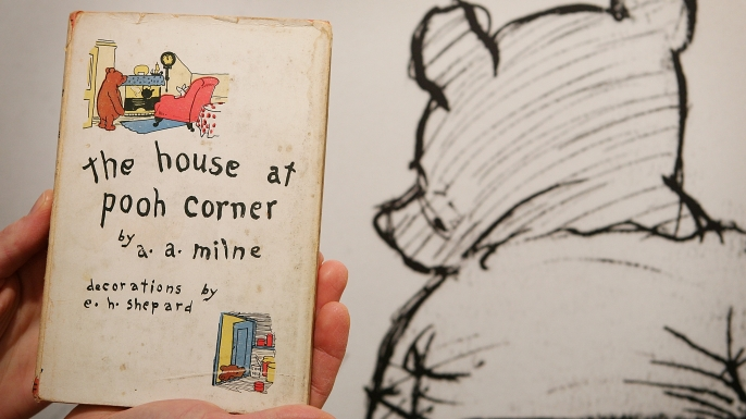 """A first edition """"Winnie the Pooh"""" book."""