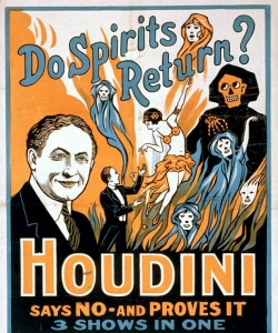 A poster for one of Houdini's anti-Spiritualist shows
