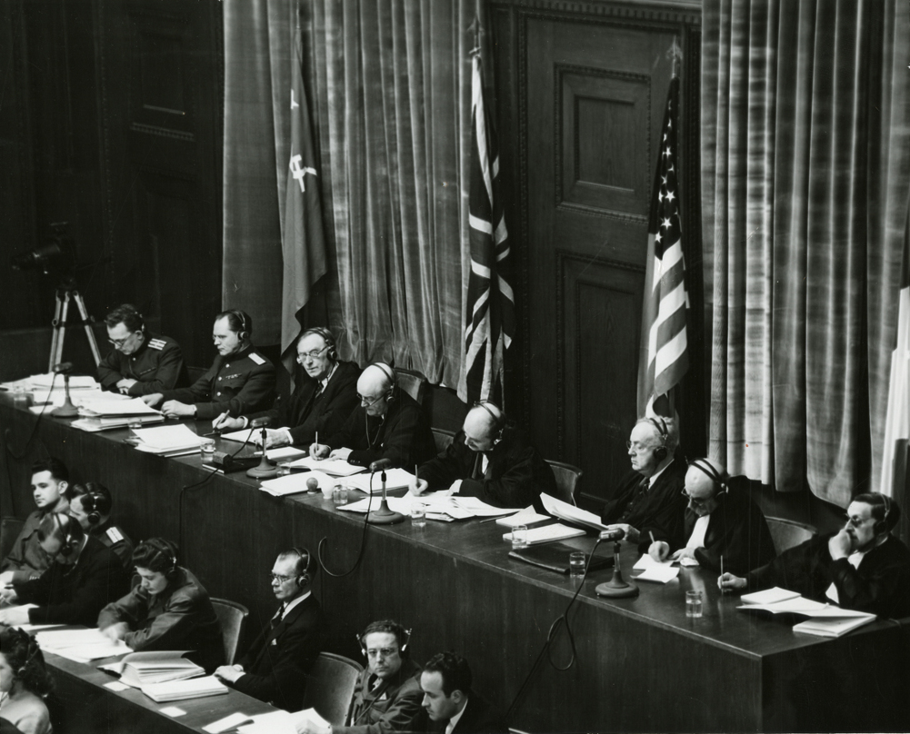 10 things you not know about the nuremberg trials lists the judges panel during testimony at nuremberg trials