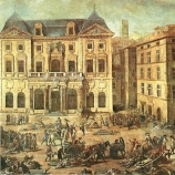Painting of Marseille during the plague.