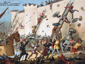 Illustration of Viking siege of Paris (Credit: Universal History Archive/Getty Images)