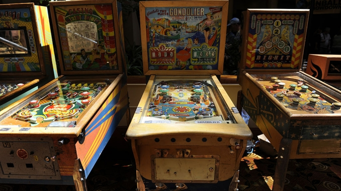 1940's era pinball machines. (Credit: Kathryn Scott Osler/The Denver Post via Getty Images)