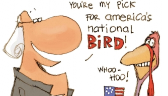 Did Benjamin Franklin propose the turkey as the national symbol?