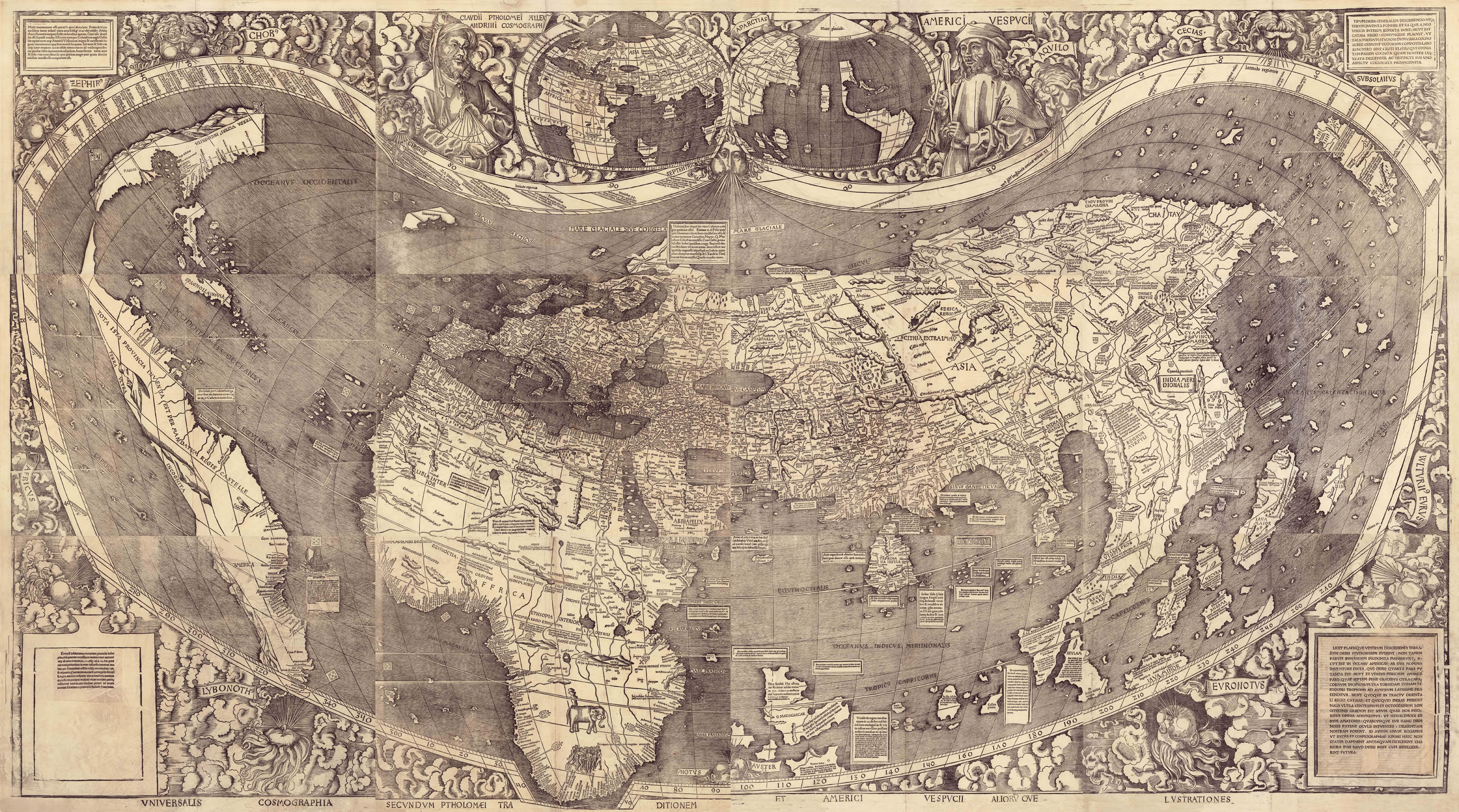 8 remarkable early maps history lists the waldseemller world map 1507 credit heritage images getty images gumiabroncs Image collections