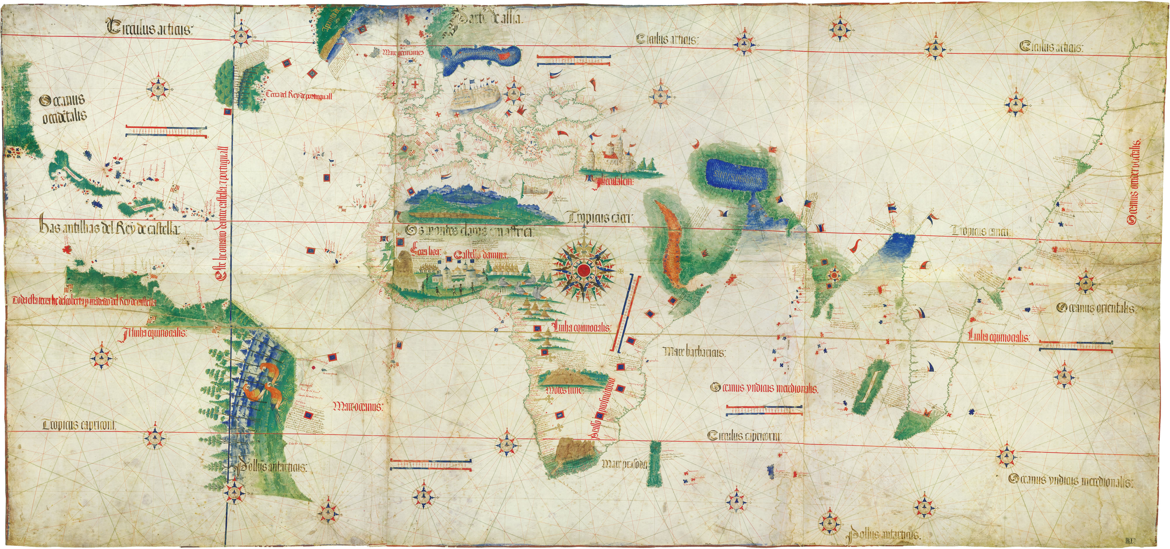 8 remarkable early maps history lists the cantino planisphere credit the cantino planispheregetty images gumiabroncs Image collections
