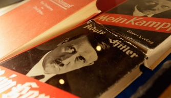 "Copy of ""Mein Kampf."" (Credit: Johannes Simon / Stringer/Getty Images)"