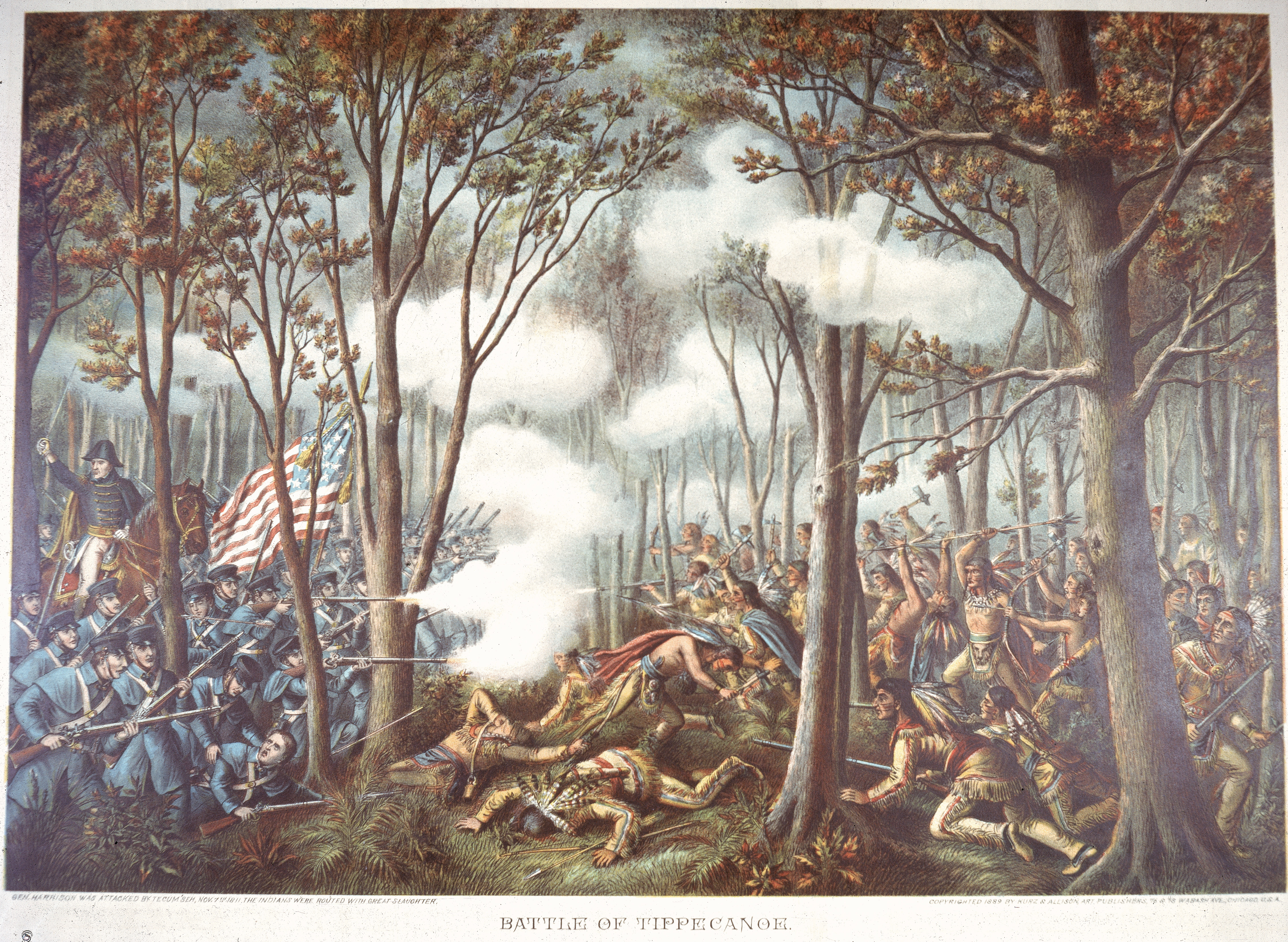battle of tippecanoe The battle of tippecanoe: historical sketches of the famous field upon which general william henry harrison won renown that aided him in reaching the  and election.