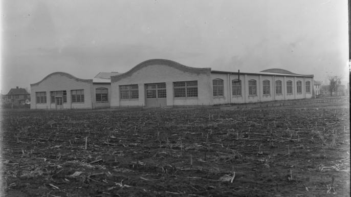 The Wright Brothers factory buildings, c. 1911. (Credit: Library of Congress)