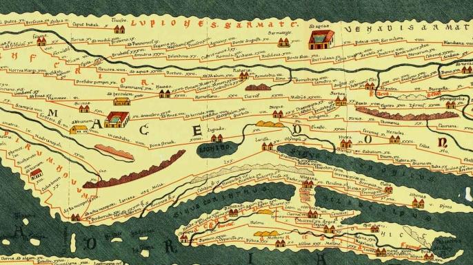 The Peutinger Map. (Credit: Public Domain)